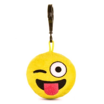 Kacsintós emoji kulcstartó